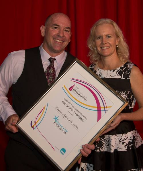 Tracey and Richard Coward at the Sunshine Coast Business Awards 2015