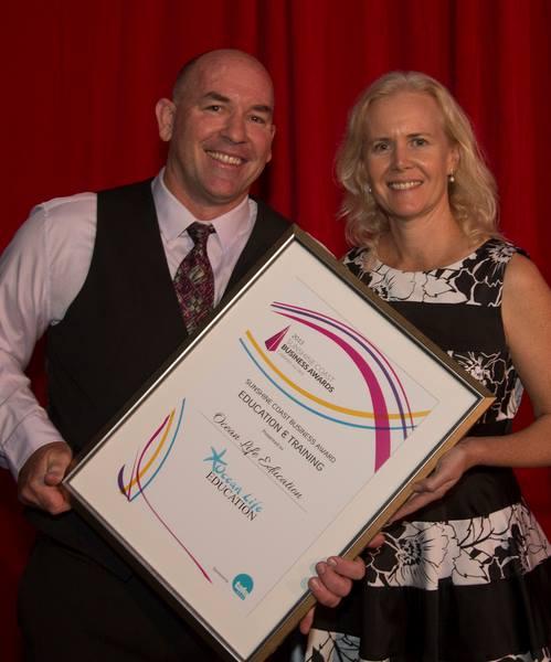 Tracey and Richard Coward at the Sunshine Coast Business Awards 2015